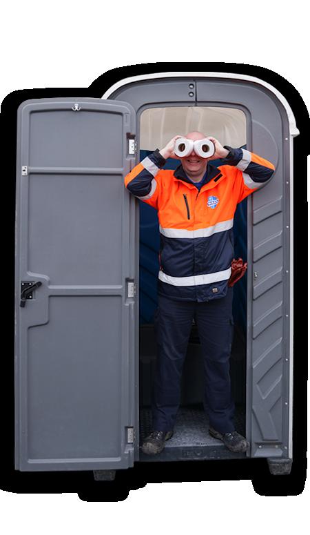 Mobiele toiletten voor bouwplaatsen