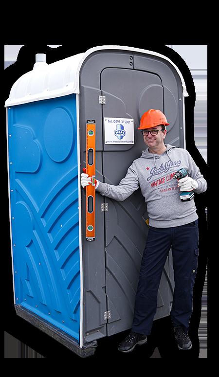 Mobiel toilet bouwplaats