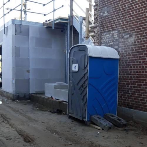 Huren van mobiel toilet voor bouwplaats