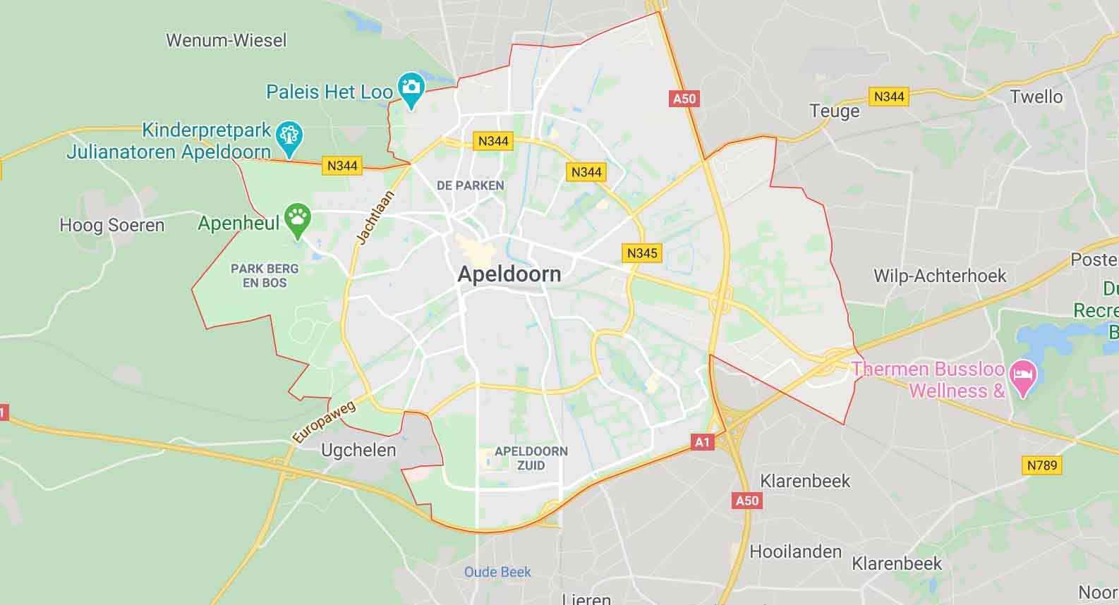 Apeldoorn locatie