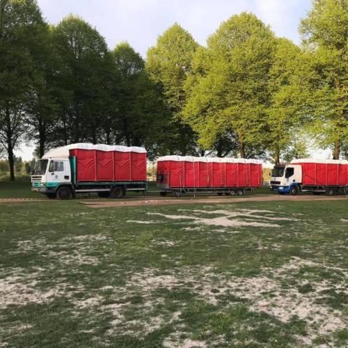 Vervoer van mobiele toiletten